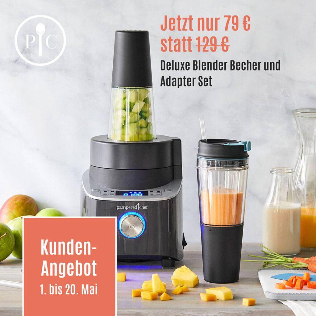 Angebot Deluxe Blender Becher und Adapter Set