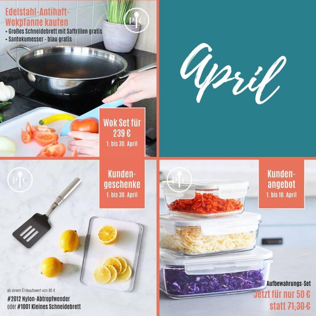 Aktionen und Angebote des Monats April