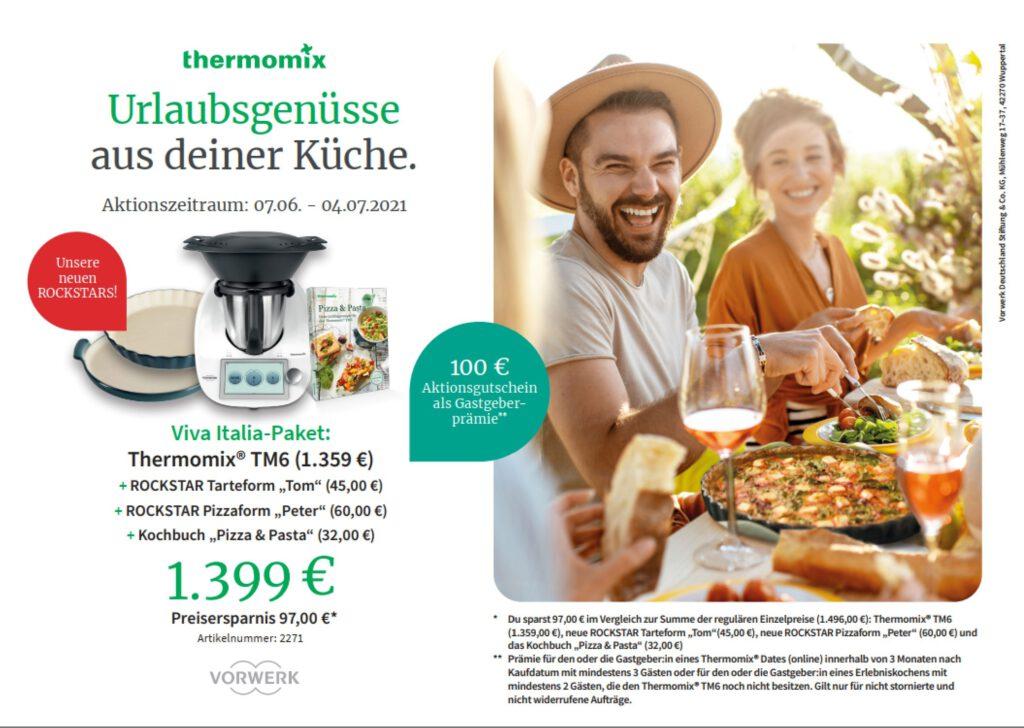 Viva Italia-Paket Urlaubsgenüsse aus deiner Küche Thermomix TM6 Angebot
