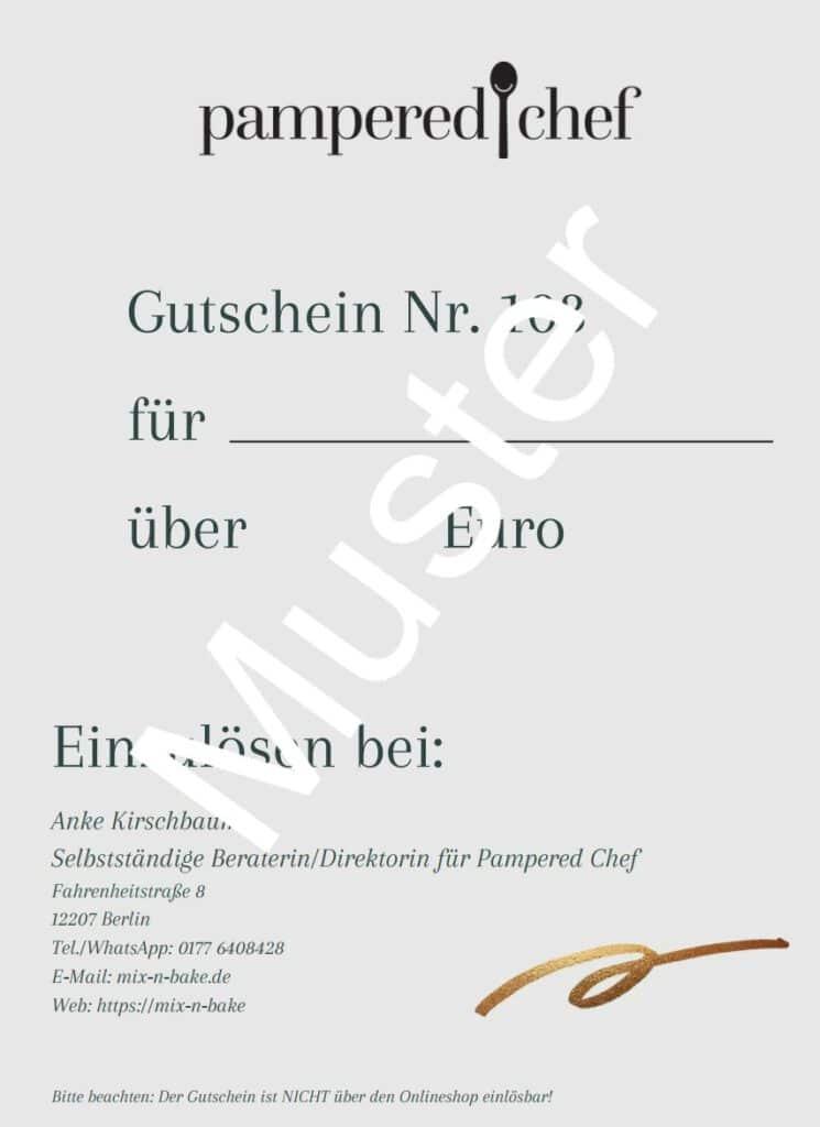Pampered Chef Gutschein Seite 2